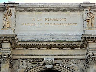 A la Republique Marseille Reconnaissante Porte d'Aix