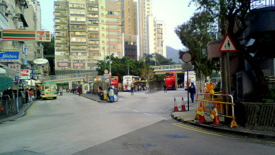 Bus terminal in Aberdeen Hong Kong