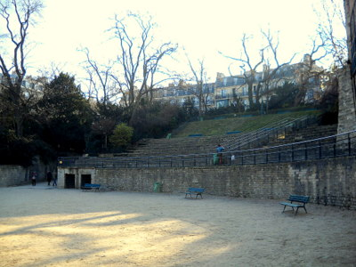 Arenes de Lutece in Paris France
