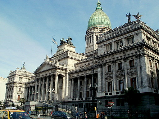 Argentine National Congress palace in Buenos Aires