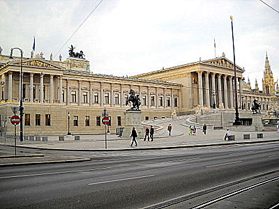 Austrian Parliament Building Vienna Austria