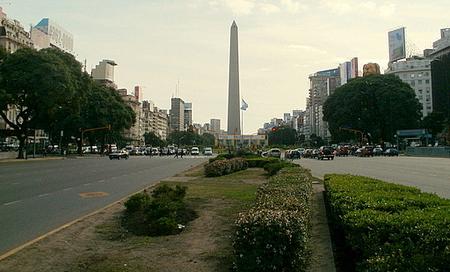 Avenida 9 de Julio Obelisco de Buenos Aires