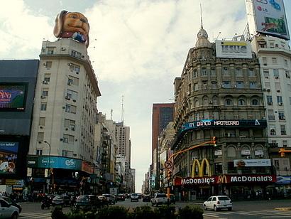 Avenida Corrientes Plaza de la Republica Buenos Aires