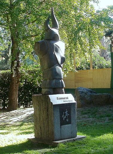 Baku Inoue Samurai statue Japanese Gardens Buenos Aires