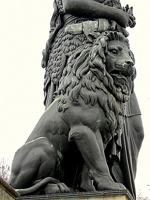 Bavaria lion statue Munich Germany