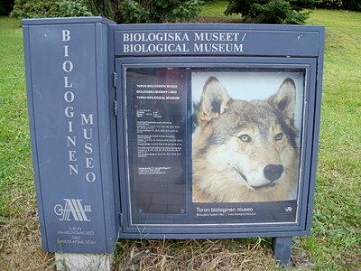 Biologinen museo opaste Turku