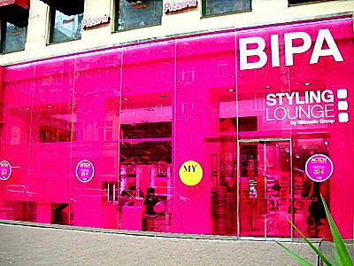BIPA styling lounge Mariahilferstrasse Vienna Austria