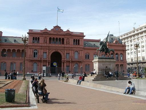 Casa Rosada General Manuel Belgrano equestrian statue Buenos Aires