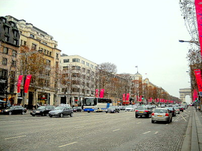 Champs Elysees Paris France