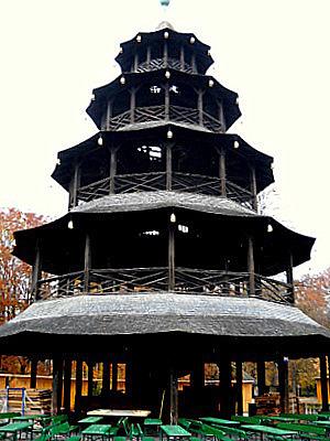 Chinesischer turm tower Munich Germany