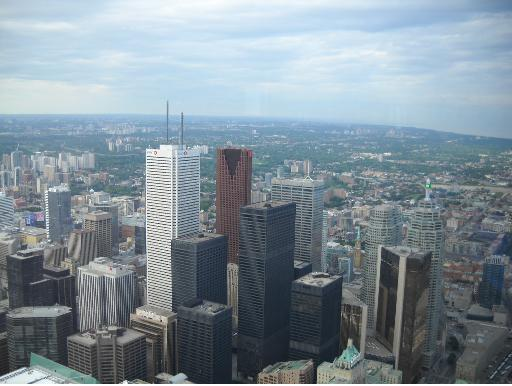 Downtown Toronto Canada from CN Tower