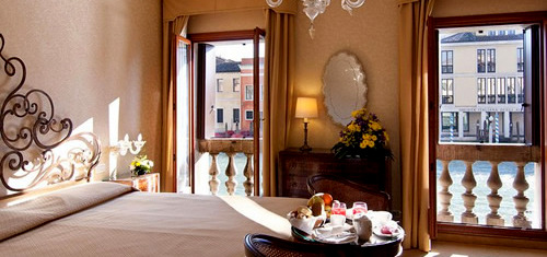 Continental Hotel canal view room Venice Italy