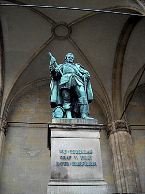 Count Tilly statue in Munich Germany