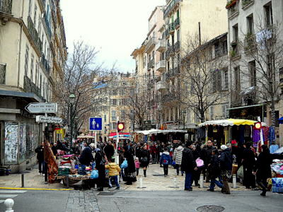 Cours Lafayette Marche Toulon France