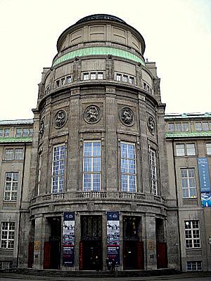 Deutsches Museum entrance in Munich Germany