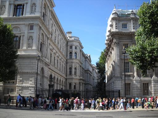 Downing Street no. 10 London England