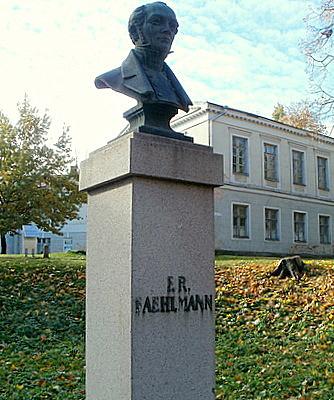 F.R. Faehlmann monumentti rintakuva Tartto