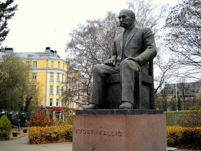 Presidentti Kallion patsas Eduskuntatalo Helsinki