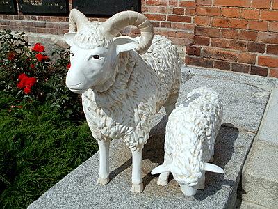 Finlaysonin kirkko lammas-patsaat Tampere