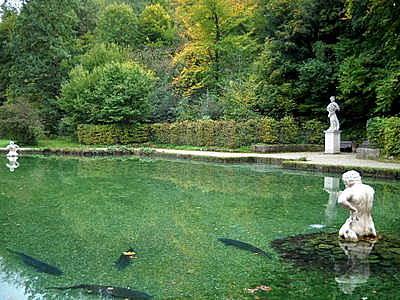 Flora statue and fountain Hellbrunn palace Salzburg  Austria