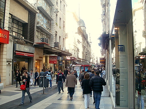 Florida pedestrian street in Buenos Aires Argentina