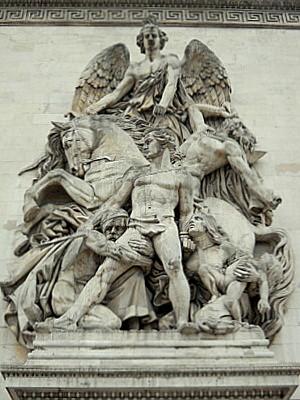 French triumphal arch bas-relief Paris France