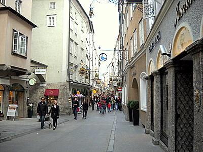 Getreidegasse Salzburg Austria