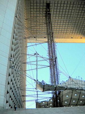 Grande Arche elevator Paris France