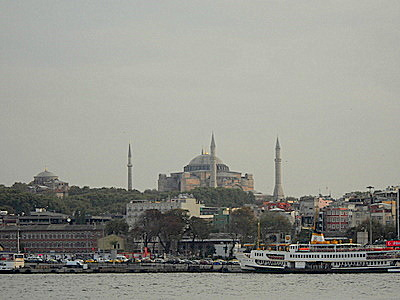 Hagia Sofia as seen from Asian side of Istanbul Turkey