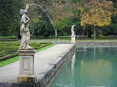 Hellbrunn palace statues Salzburg  Austria