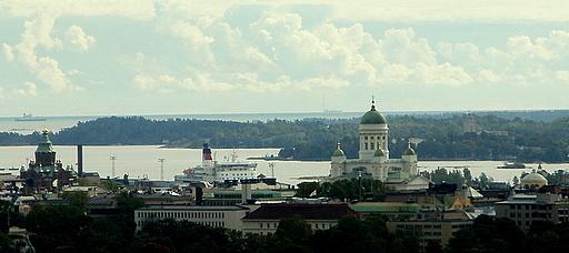 Helsinki Olympiastadionin tornista nähtynä