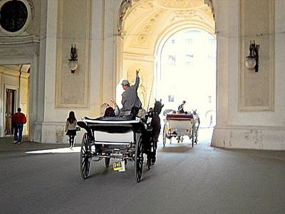 Horse carriage tour Hofburg palace Vienna Austria