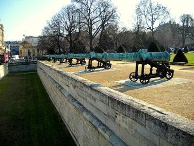 Hotel des Invalides cannons Paris France