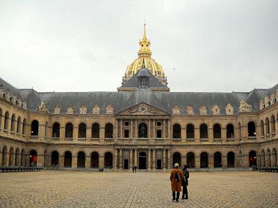 Hotel des Invalides cour d'honneur Paris France