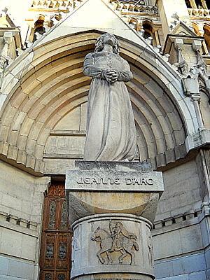 Joan of Arc statue Saint Vincent de Paul church Marseille France
