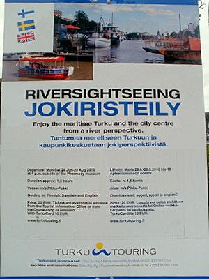 Jokiristeily Aurajoki Turku