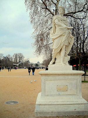 Julius Caesar statue Les Tuileries Paris France