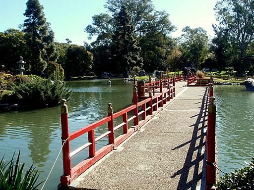 Bridge Japanese Gardens in Buenos Aires