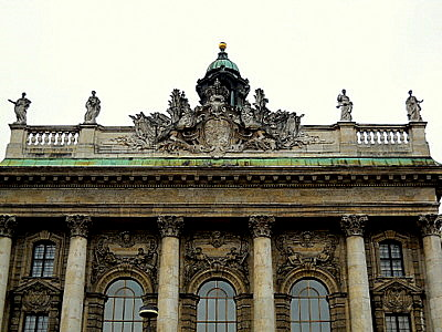 Juztizpalast Munich Germany detail