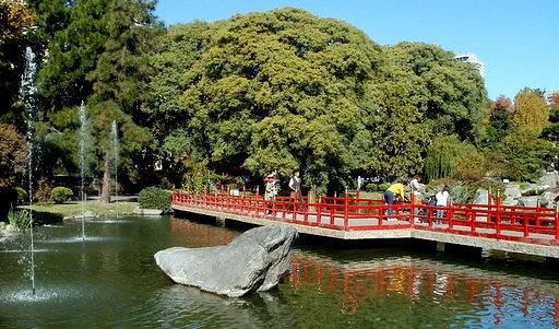 Pond and bridge Japanese Gardens Buenos Aires