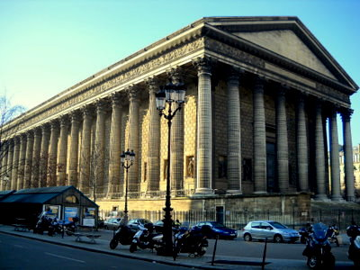 La Madeleine church Paris France