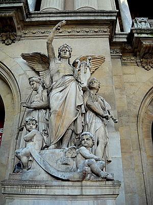 La Musique Instrumentale monument Palais Garnier Paris France