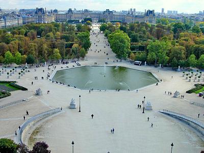 Les Tuileries park Paris France