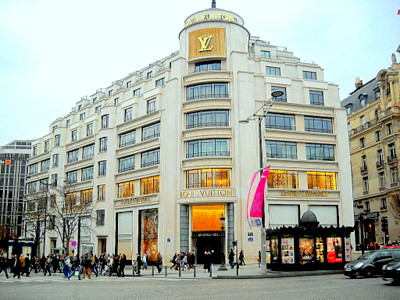 Louis Vuitton store Champs Elysees Paris France