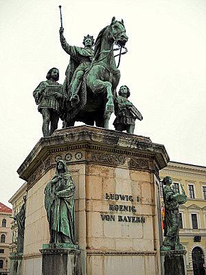 Ludwig I König von Bayern statue Munich Germany