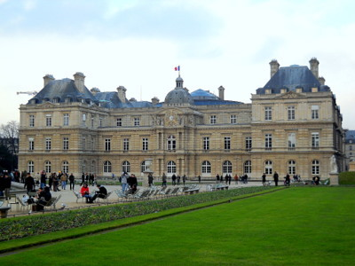 Luxembourg palace in Paris France