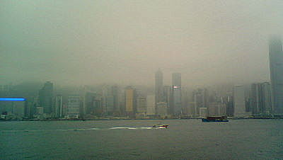 Marine Pier skyscraper view Hong Kong