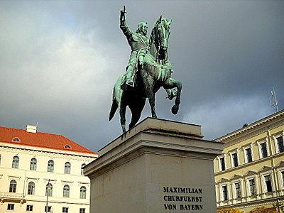 Maximilian Churfuerst von Bayern statue Munich Germany