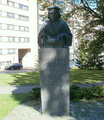 Mikael Agricolan rintakuvapatsas Lahti
