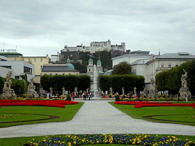 Mirabell palace gardens Salzburg Austria